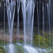 Water Flowing Over Rocks Art Print