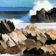 17 Mile Drive Pacific Ocean  Art Print