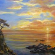 17 Mile Sunset Art Print