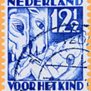 Old Dutch Postage Stamp Art Print