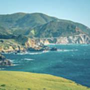 Western Usa Pacific Coast In California Art Print