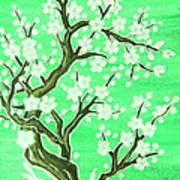 White Tree In Blossom, Painting Art Print