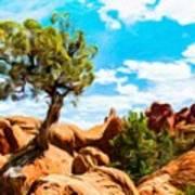 Nature Oil Painting Landscape Art Print