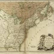 1783 United States Of America Map Art Print
