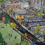 17th Ave Calgary Art Print
