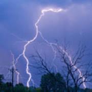 17th Street Lightning Strike Fine Art Photo Art Print
