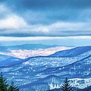 Beautiful Nature And Scenery Around Snowshoe Ski Resort In Cass  Art Print