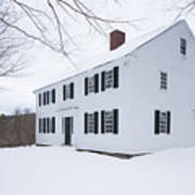 1800 White Colonial Home Art Print