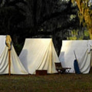 1800s Army Tents Art Print