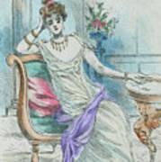 1804 Paris France Fashion Drawing Art Print