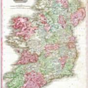 1818 Pinkerton Map Of Ireland Art Print