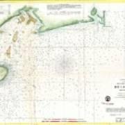 1859 U.s. Coast Survey Map Of Bull's Bay South Carolina Art Print