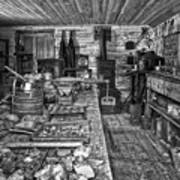 1860's Ore Assay Office Shop - Montana Art Print by Daniel Hagerman