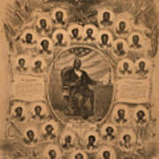 1868 Commemorative Photo Collage Art Print