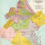 1869 King County Map Art Print