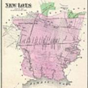 Map Of New York Jamaica.1873 Beers Map Of New Lots Brooklyn New York City East New York Jamaica Bay By Paul Fearn