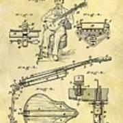 1873 Guitar Patent Art Print