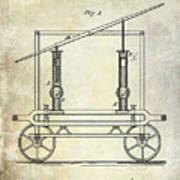 1875 Fire Extinguisher Patent Art Print