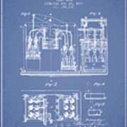 1877 Bottling Machine Patent - Light Blue Art Print