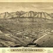1877 Santa Barbara California Map Art Print