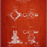 1879 Exercise Machine Patent Spbb08_vr Art Print