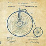 1881 Velocipede Bicycle Patent Artwork - Vintage Art Print