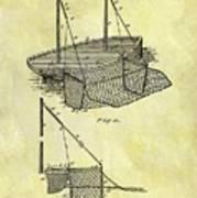 1882 Fishing Net Patent Art Print