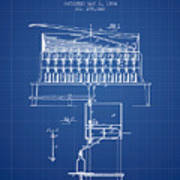 1884 Bottling Machine Patent - Blueprint Art Print