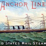 1885 Steamship City Of Rome Art Print