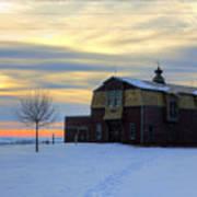 1888 Barn In Winter 02 Art Print