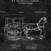 1888 Horse Drawn Carriage Art Print