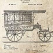 1889 Ambulance Patent Art Print