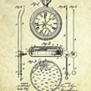 1889 Stop Watch Patent Art S. 1 Art Print