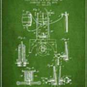 1890 Bottling Machine Patent - Green Art Print
