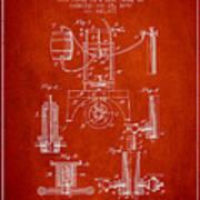1890 Bottling Machine Patent - Red Art Print
