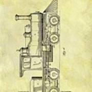 1891 Locomotive Patent Art Print