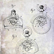 1893 Pocket Watch Patent Art Print