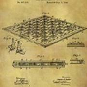 1896 Chess Set Patent Art Print
