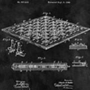 1896 Chessboard Patent Art Print