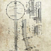 1897 Banjo Patent Art Print