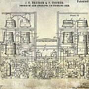 1897 Beer Brewering Patent  Art Print