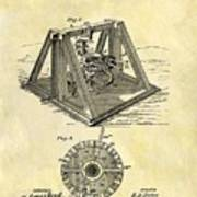 1897 Oil Rig Patent Art Print