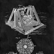 1897 Oil Well Rig Patent Design Art Print