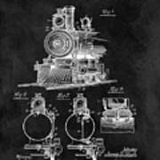 1898 Locomotive Headlight Patent Art Print