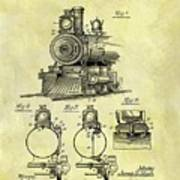 1898 Locomotive Patent Art Print