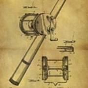 1899 Fishing Reel Patent Art Print