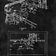 1899 Horse Track Patent Art Print