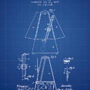 1899 Metronome Patent - Blueprint Art Print