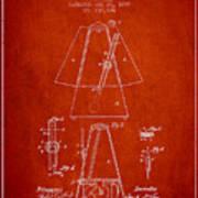 1899 Metronome Patent - Red Art Print