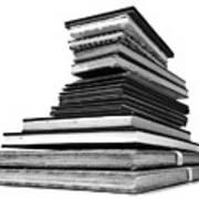 1.8.stack-of-sketch-books Art Print